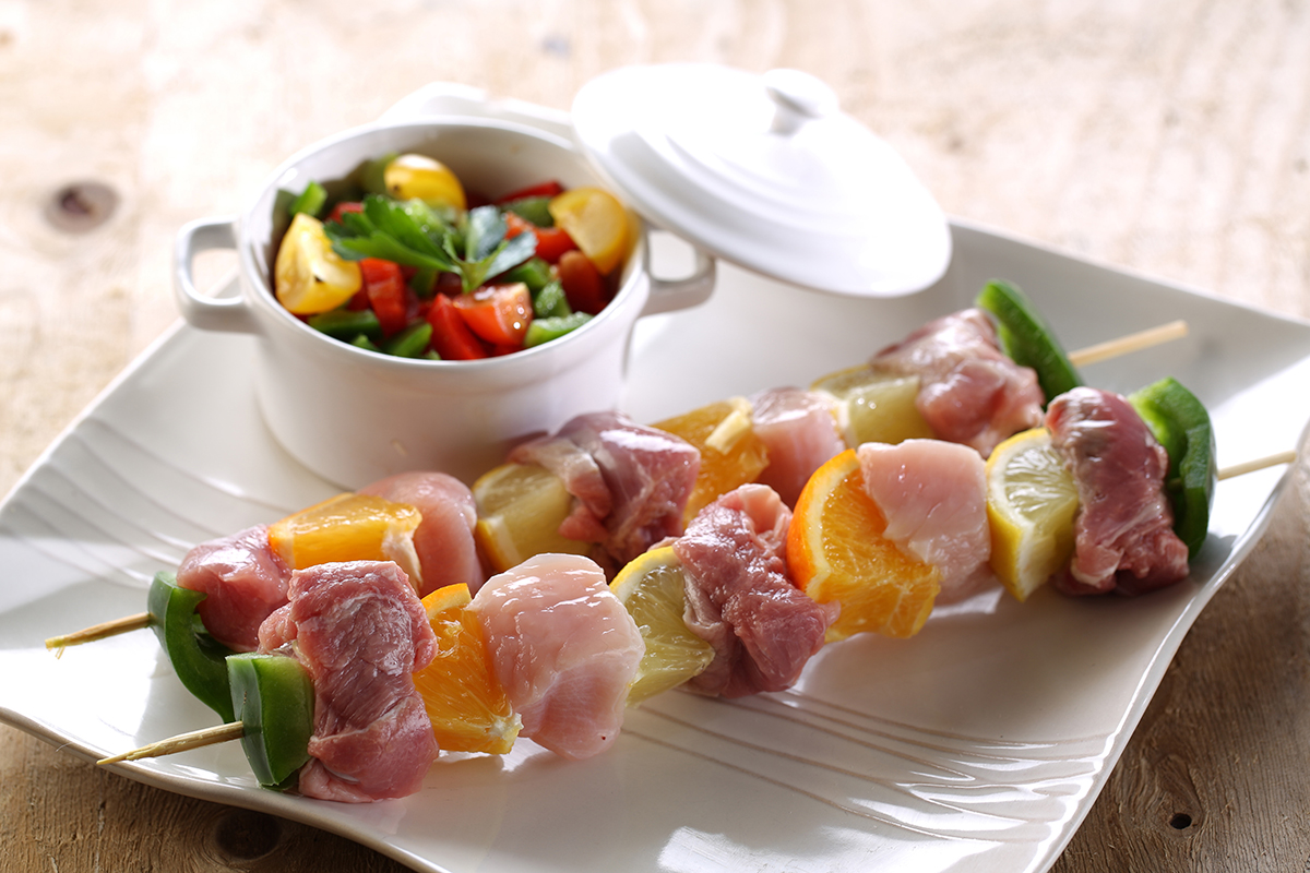 Brochettes-de-Dinde-salées-sucrées
