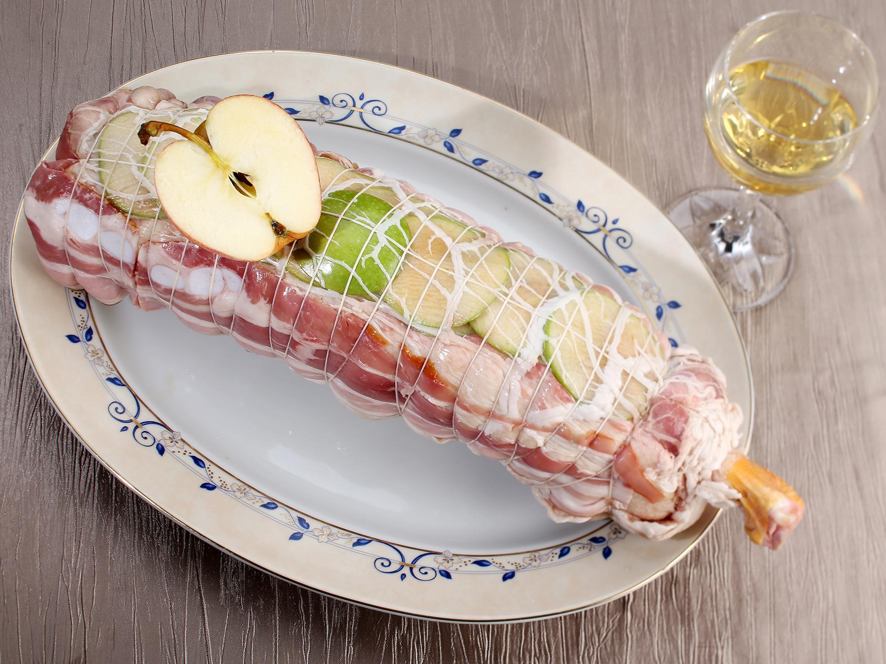 Rôti-d'Oie-farce-aux-pommes